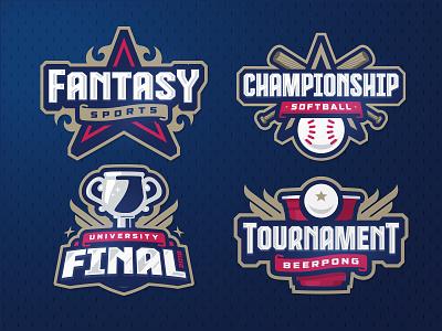 Sport logos templates beerpong softball baseball cup tournament final championship fantasy zerographics logo sport