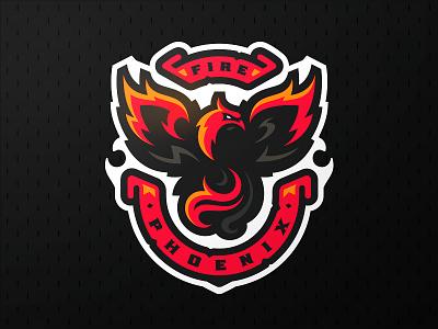 Fire Phoenix zerographics mascot sports logo fenix phoenix fire