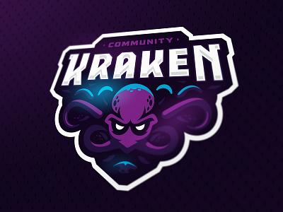 Kraken sweden cs esport mascot zerographics sports logo squid kraken