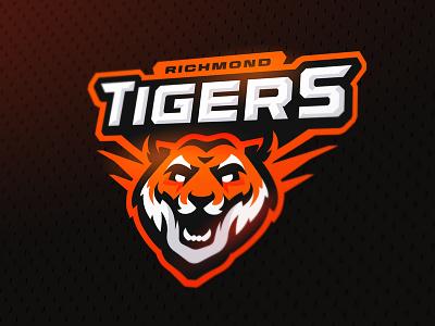 Tigers mascot zerographics sports logo tiger