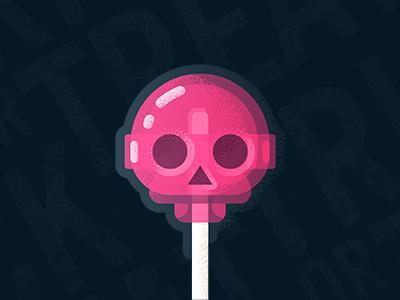 Trick or treat dribbble zerographics dribbble trick treat halloween chups chupa skull candy
