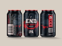 End Of Days IPA beer label