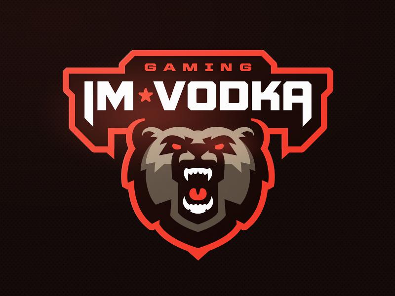 I'm Vodka zerographics logo sports esports scotland bear streamer gamer vodka