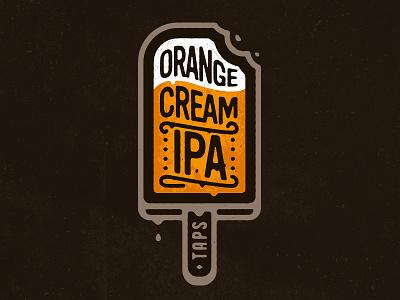 Orange Cream IPA zerographics label logo craft beer creamsicle ipa cream orange
