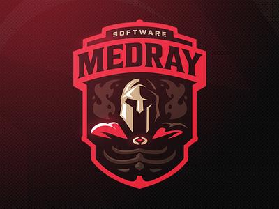 MedRay skeleton helmet zerographics sports logo spartan xray medray