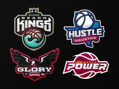 Champs Hoops ball philadelphia houston hustle kings miami league champions zeographics sports logo basketball
