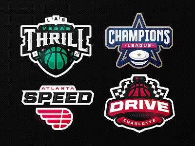 Champs Hoops zeographics sports logo league champions basketball drive vegas speed ball