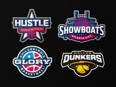 Champ Hoops glory hustle showboat dunk zeographics sports logo league champions basketball ball