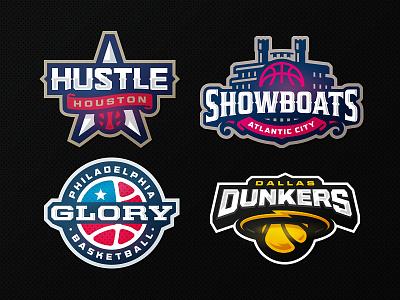 Champ Hoops glory hustle showboat dunk zeographics sports logo league champions basketball ball