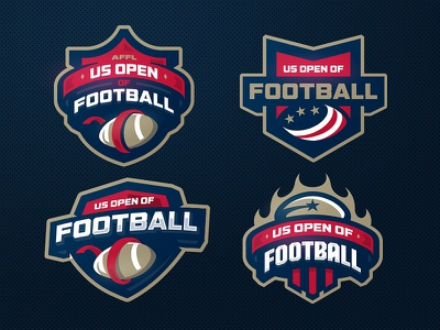 US OPEN OF FOOTBALL flag zerographics logo sports affl football us