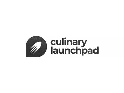 Culinary launchpad zerographics logo kitchen space launch satellite rocket fork