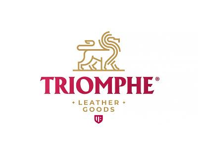 Triomphe zerographics logo lion line goods leather triumph triomphe