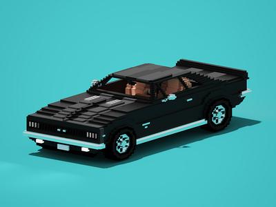 Camaro illustration magicavoxel zerographics voxel art pixel car 3d voxel camaro