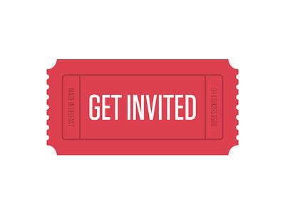 Get Invited Branding get invited ticket logo branding