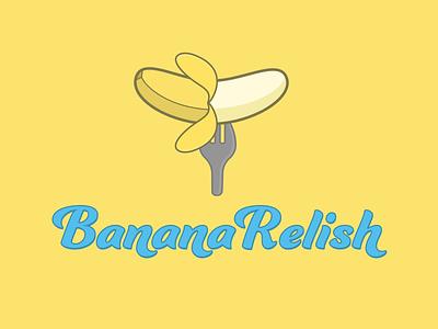Banana Relish Logo relish fork banana food