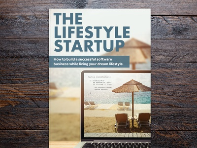 The Lifestyle Startup (Book) beach tech computer startup book cover