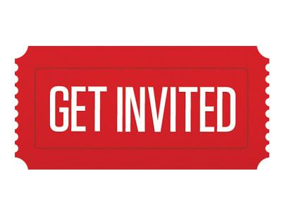 Get Invited Logo branding ticket