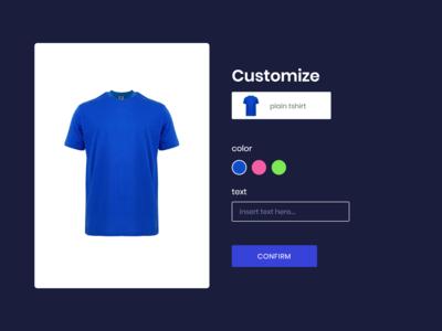 Costumize t-shirt