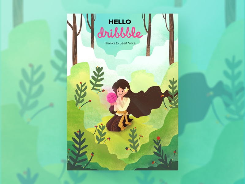Hello Dribbble! invite hellodribbble hello illustration