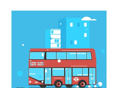 london transport england public british uk traffic car urban cartoon service europe traditional city english isolated vector illustration bus travel transport double decker