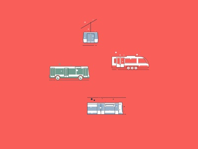 Public transport icons
