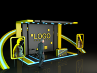 Trading Booth design 3D