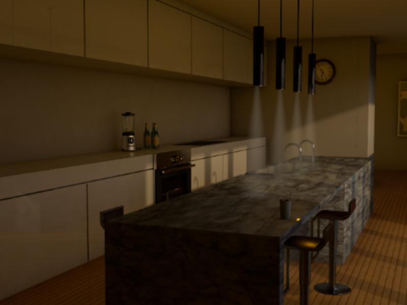 Kitchen interior design lighting kitchen architecture 3d design