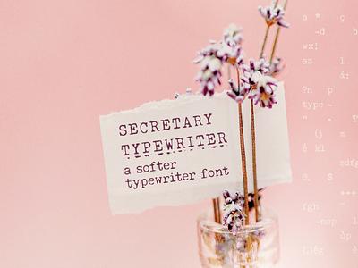Secretary Typewriter font retro design retro typewriter font typewriter serif font font typography design