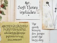 Soft Notes font