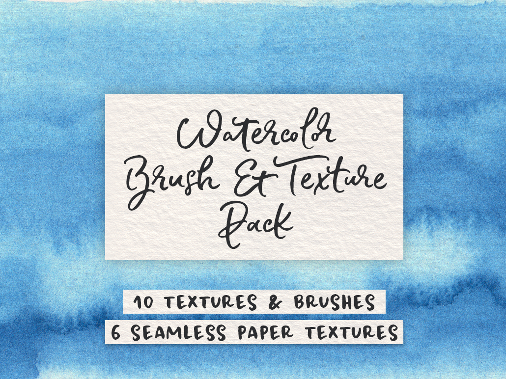 Blue Watercolor and Texture Pack seamless patterns paper textures watercolor brushes watercolor background watercolor texture pack design