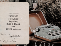 Fletcher Typewriter font and extras