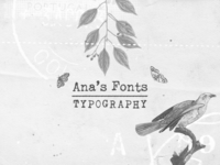 Ana's Fonts at MyFonts
