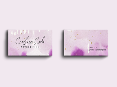 Watercolor and gold textures pack purple pink and purple pink business card design banding design gold textures gold accents watercolor textures watercolor painting design
