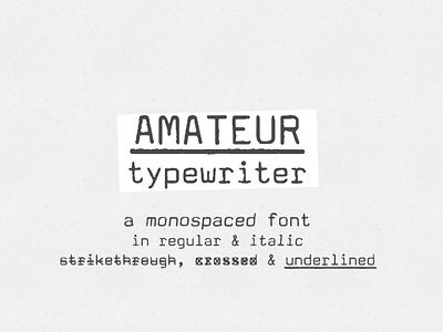 Amateur Typewriter font typewriter typewriter font vintage typewriter font vintage font retro font retro design font typography design
