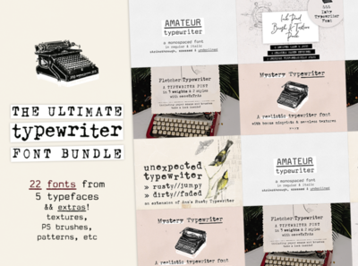 The Ultimate Typewriter Font Bundle