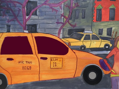 New York Cabs Reloaded blending modes collages collage art collageart artwork graphic  design adobe photoshop cc adobe photoshop