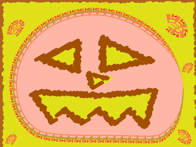 Happy Halloween 2020 adobe illustrator scribble decoration web design graphic  design design