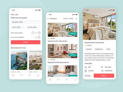 Airbnb Redesign App apartments mobile ui mobile design booking app hotel booking hotel app airbnb