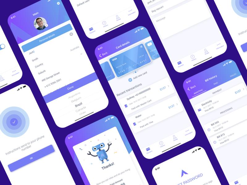 Banking app cards bank app payment app payments payment banking app app ux ui design