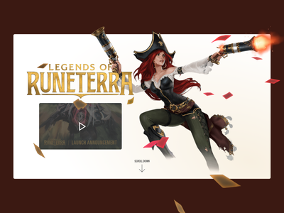 Legends of Runeterra miss fortune runeterra legends of runeterra league of legends webdesign web ux ui html design css
