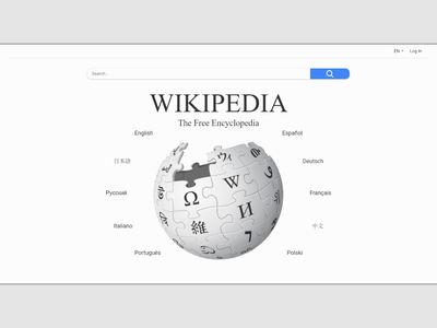 Wikipedia home page redesign wiki wikipedia webdesign web ui ux design css html