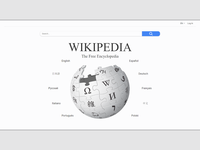 Wikipedia home page redesign