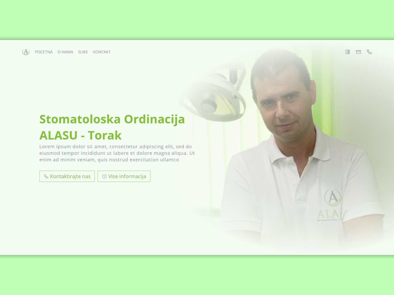 ALASU - Dental Landing page dentist dental landing page webdesign web ux ui html design css