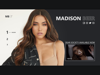 Madison Beer site redesign webdesign web ux ui html design css