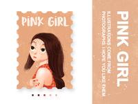 Pink Girl Illustration