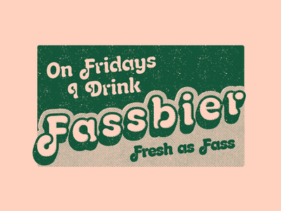 Friday Fassbier 2-color badge button sticker bier fassbier beer