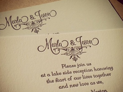 Our Reception Invitation Letterpress wedding personal identity french paper speckletone starch rain oatmeal stationary letterpress