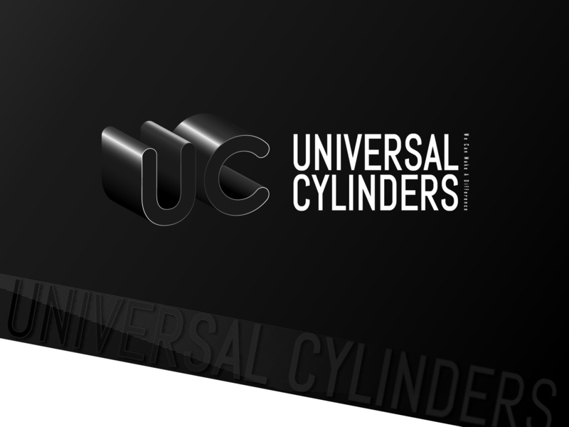 Universal Cylinders 3D Logo cylinders universal 3d image typography icon campaign word desiger vector logo branding illustration graphic design adveristing ads