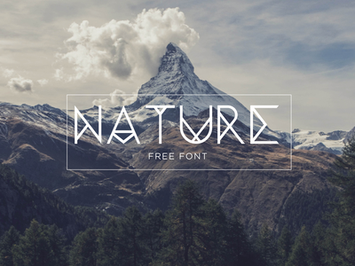 Nature | Free font tipography ui ux design web