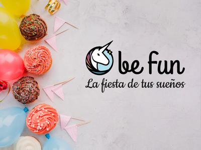 Befun, la fiesta de tus sueños icon vector illustration logo branding tipography ux ui design web